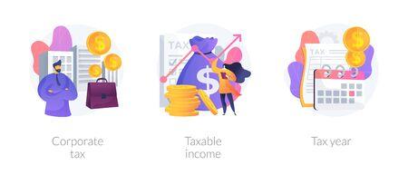 Taxation system vector concept metaphors Ilustracja