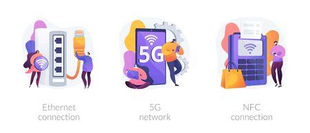 Internet connection vector concept metaphors. Ilustração