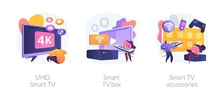 Smart TV technology vector concept metaphors.