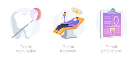 Dental care vector concept metaphors.