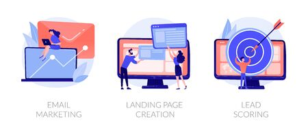Marketing automation vector concept metaphors Vektorové ilustrace