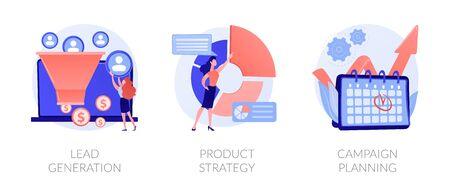 Digital Strategy vector concept metaphors