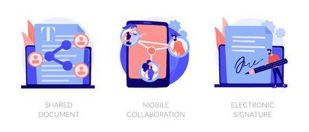 Innovative networking vector concept metaphors. Vektorové ilustrace