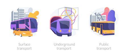 Urban passengers transportation vector concept metaphors.