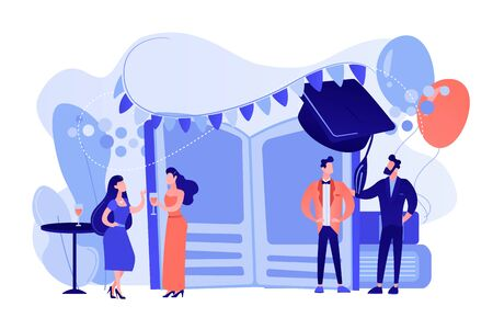Prom party concept vector illustration. Stock Illustratie