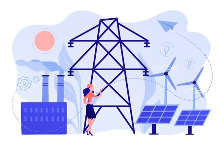 Alternative energy concept vector illustration. Archivio Fotografico - 138242733