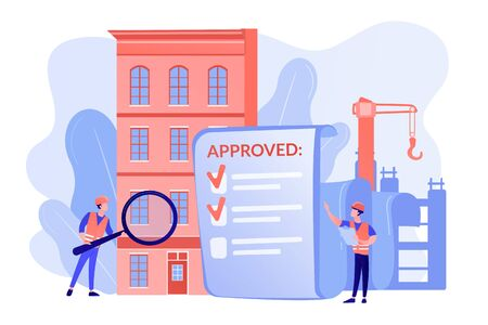 Construction quality control concept vector illustration Иллюстрация