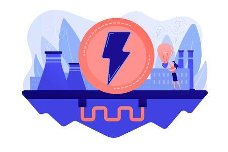 Geothermal energy concept vector illustration. Illusztráció