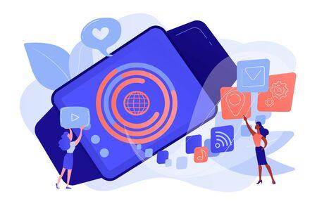Smartwatch app concept vector illustration.
