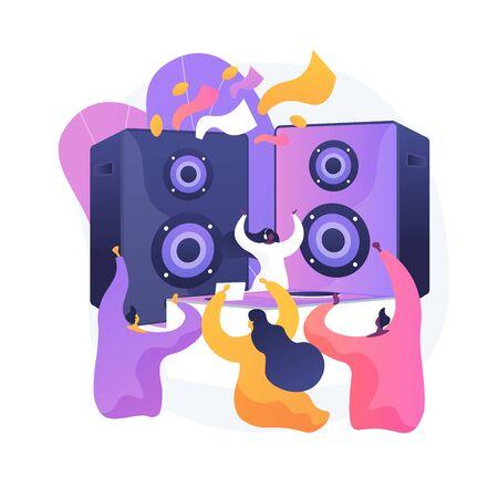 Disco party vector concept metaphor Vector Illustration