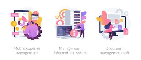Business management systems vector concept metaphors
