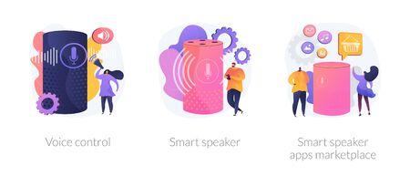 Smart speaker voice assistant vector concept metaphors