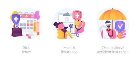 Worker healthcare system vector concept metaphors Vetores
