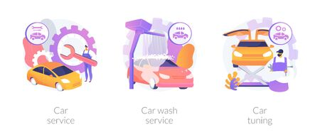Vehicle care services vector concept metaphors Vettoriali