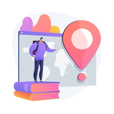 International tourism vector concept metaphor Ilustrace