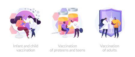 Vaccine-preventable diseases abstract concept vector illustratio Ilustrace