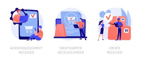 Order processing vector concept metaphors