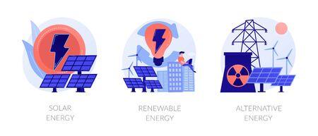 Green energy technologies vector concept metaphors.