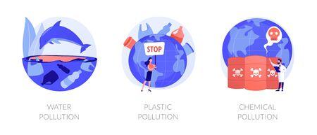 World contamination vector concept metaphors