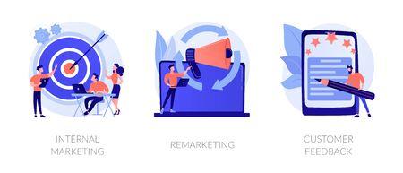 Customer journey vector concept metaphors. Stock Illustratie