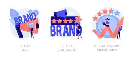 Brand awareness vector concept metaphors. Illustration