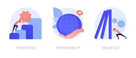 Personal skills development vector concept metaphors.