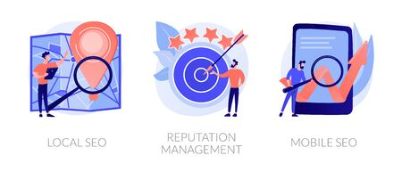 SEO management vector concept metaphors.