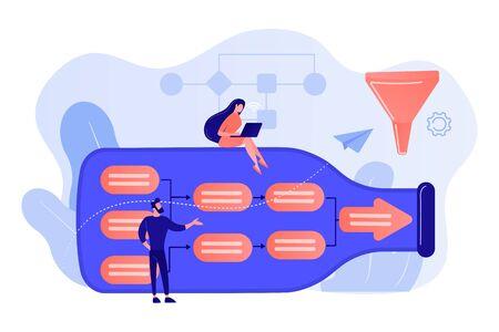 Bottleneck analysis concept vector illustration. Vector Illustration