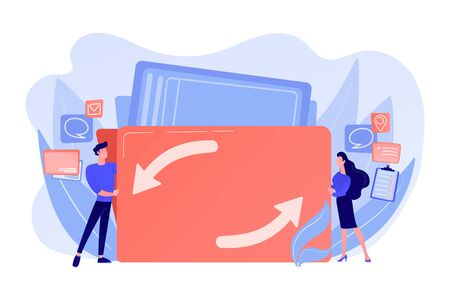 Job sharing concept vector illustration Illustration