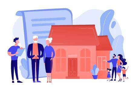 Retirement estate planning concept vector illustration.