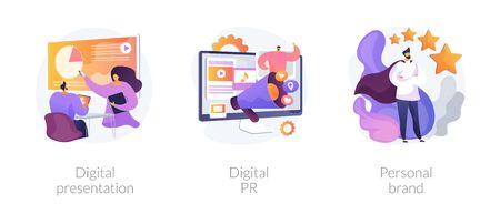Digital communication vector concept metaphors.