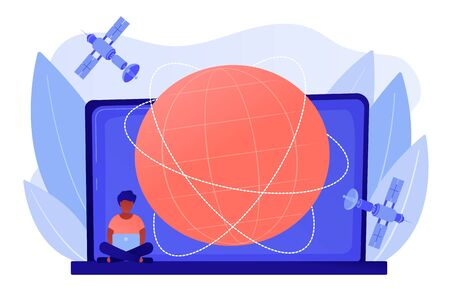 Global web connection concept vector illustration.