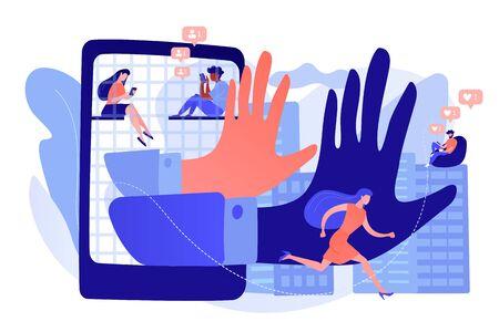 Digital overload concept vector illustration