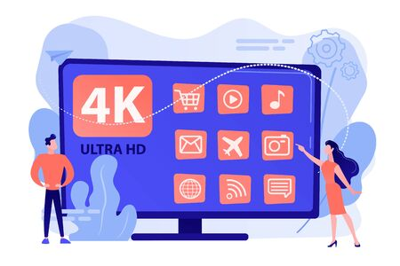 UHD smart TV concept vector illustration.