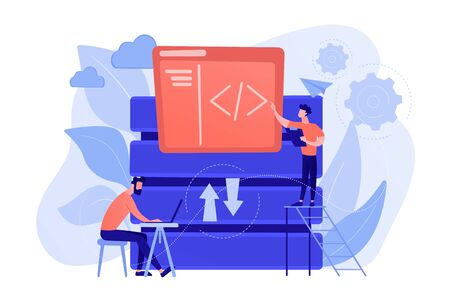 Big data developer concept vector illustration.
