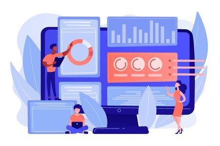 Innovation management software concept vector illustration.