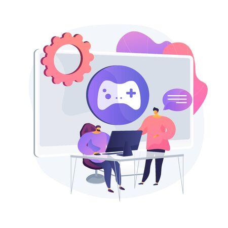 Computer gaming vector concept metaphor 일러스트