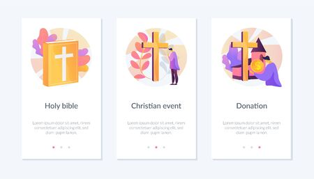 Christianity app interface template.