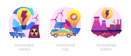 Smart energy system vector concept metaphors.