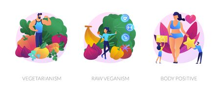 Eco lifestyle vector concept metaphors.  イラスト・ベクター素材