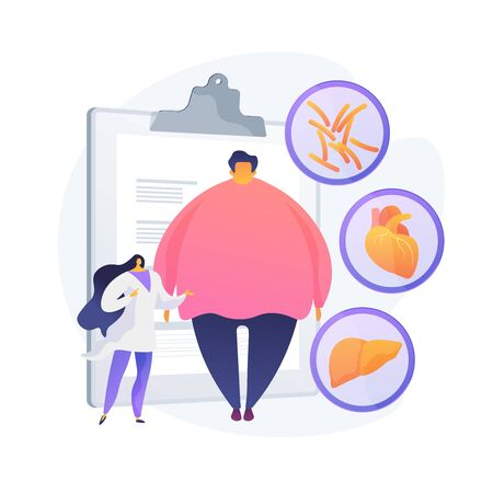 Obesity problem vector concept metaphor