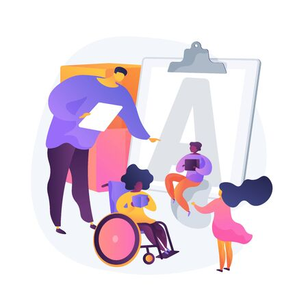 Education for disabled children vector concept metaphor