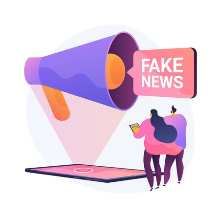 Propaganda in media. News fabrication, misleading information, facts manipulation. Misinformed people, disinformation spread. Fraud journalism. Vector isolated concept metaphor illustration