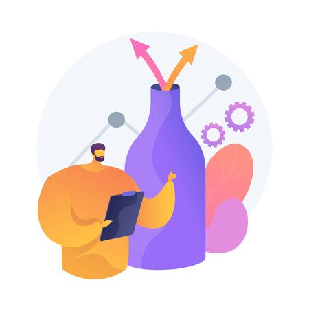 Successful testing. Man with clipboard showing thumb up. Quality assurance, business strategy approval, bottleneck analysis. Analyst cartoon character. Vector isolated concept metaphor illustration Vektorgrafik