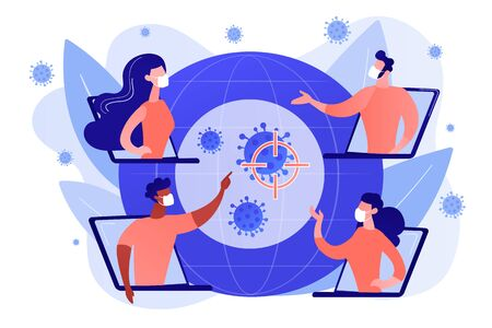 Covid-2019 global response concept illustration.