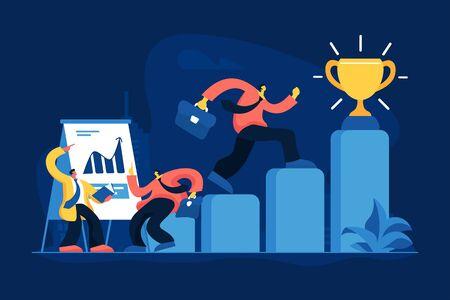 Job promotion flat vector illustration Illustration