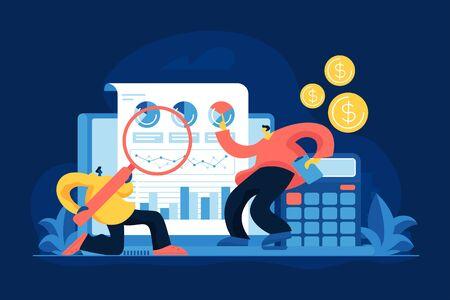 Business analytics flat vector illustration