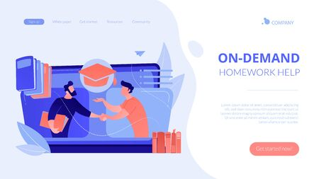 Online tutor concept landing page.