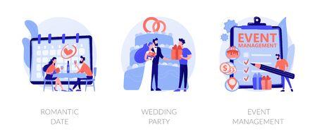 Celebration planning vector concept metaphors. 版權商用圖片 - 144204715