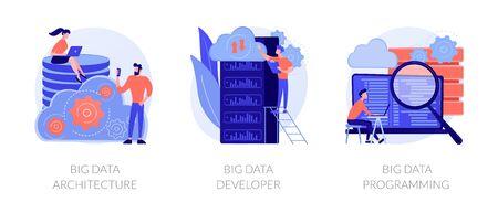 Big data technology vector concept metaphors